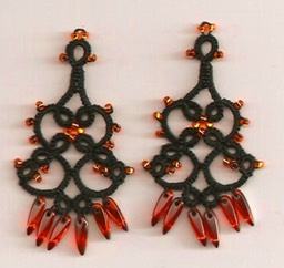 Black & Orange Chandeliers