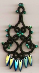 Green Irid Chandelier